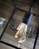 HANGLAMP SAUNTE GLAS METAAL ZWART_