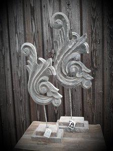 Pinakel ornament vintage grey